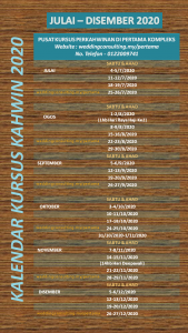 Kalendar Kursus Kahwin 2020