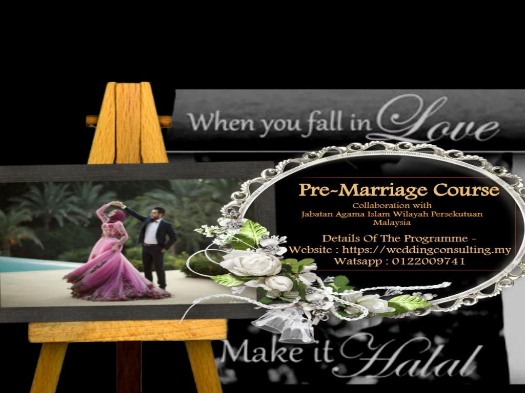 Poster Kursus Pra Perkahwinan